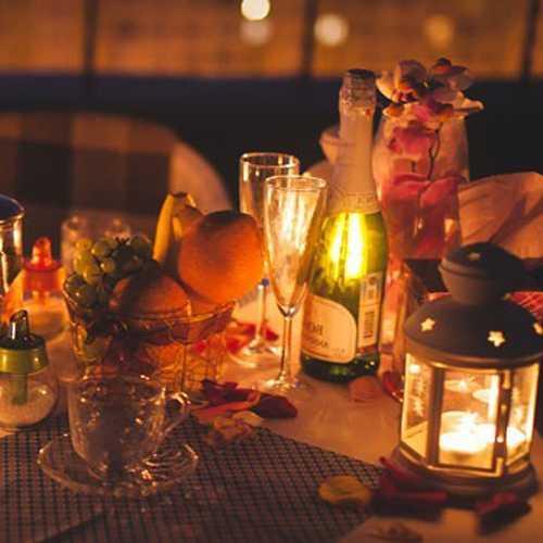 Шампанское и свечи