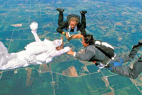 1st parachute wedding