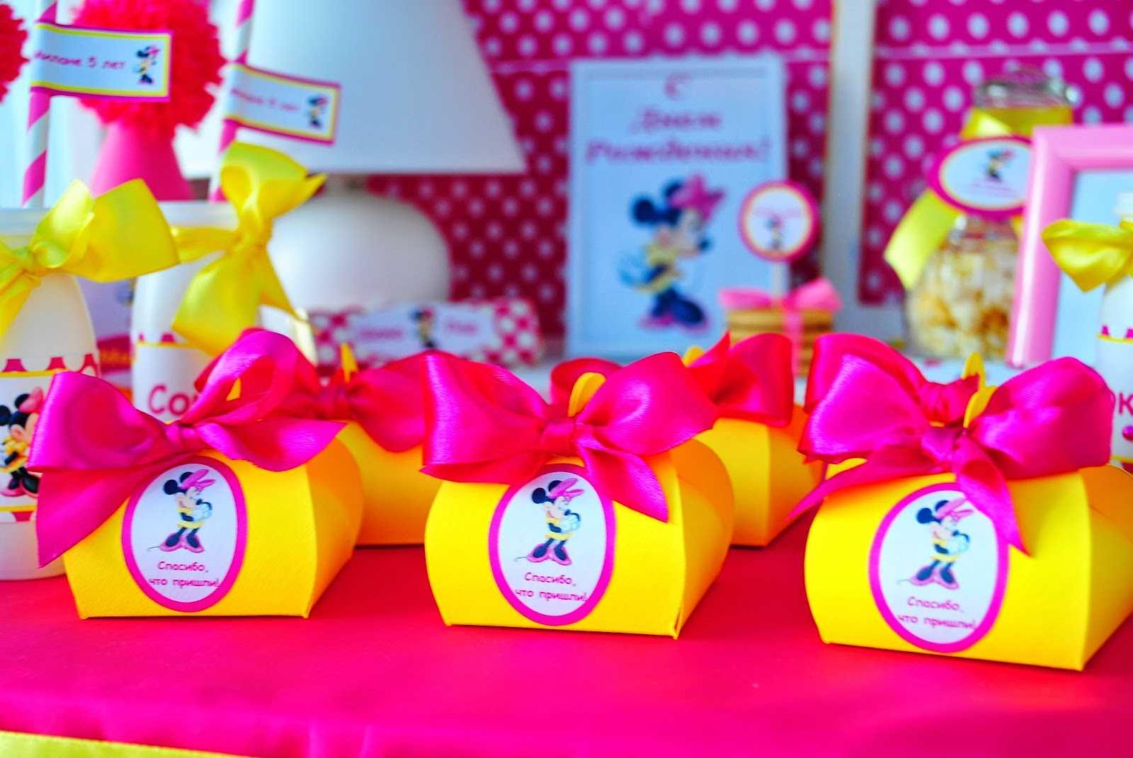 Подарки для гостей на день рождения ребенка