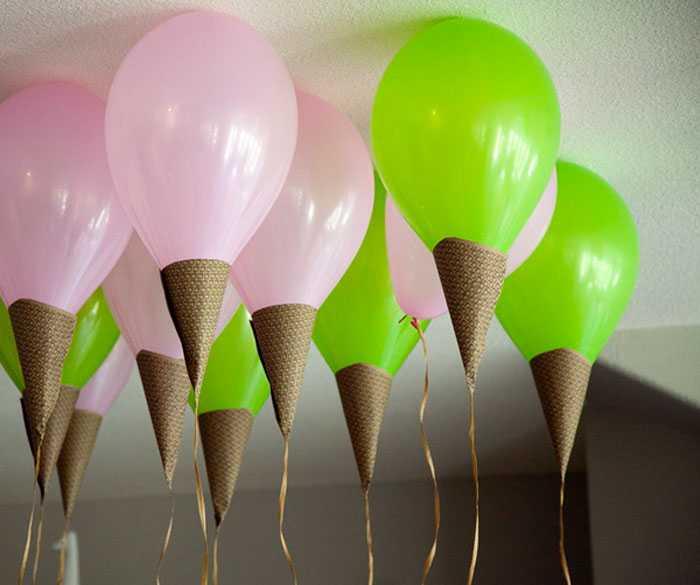 Десерт из воздушных шариков