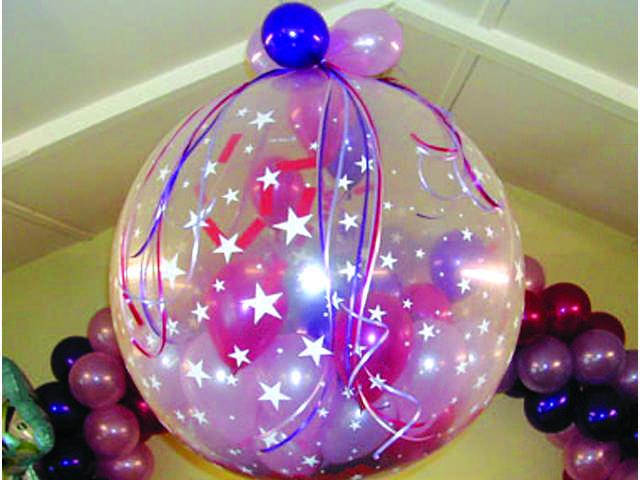 Воздушный шар в шаре для украшения комнаты