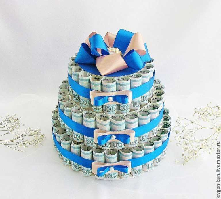 Как сделать денежный торт на свадьбу своими руками