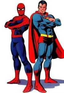 Человек-паук и Супермен