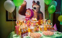 """День рождения дочки 4-5 лет в стиле """"Маша и Медведь"""""""