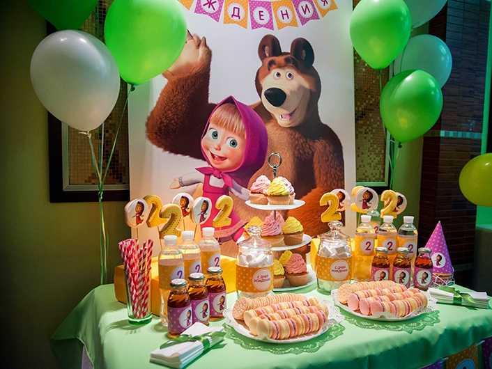 Маша и медведь с днём рождения сценарий