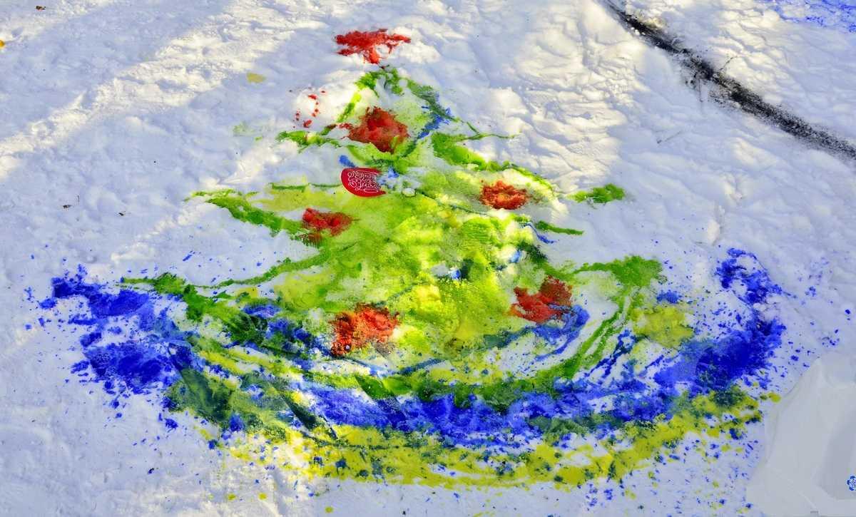Живопись на снегу