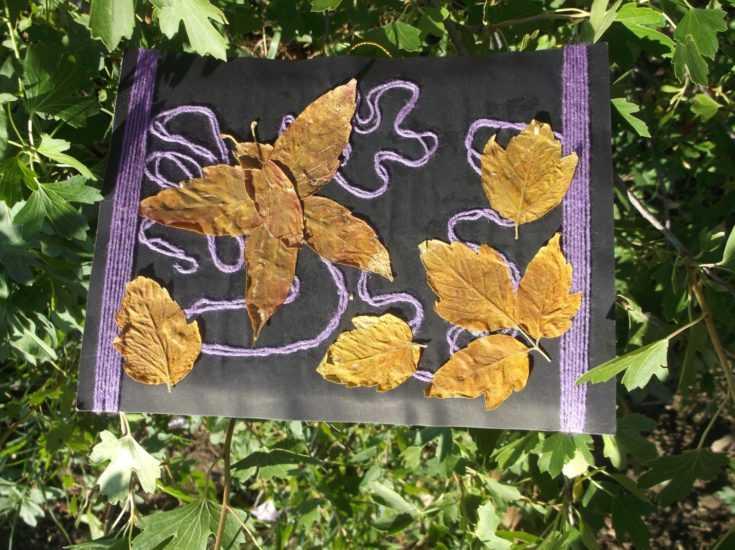Картина из листьев 13