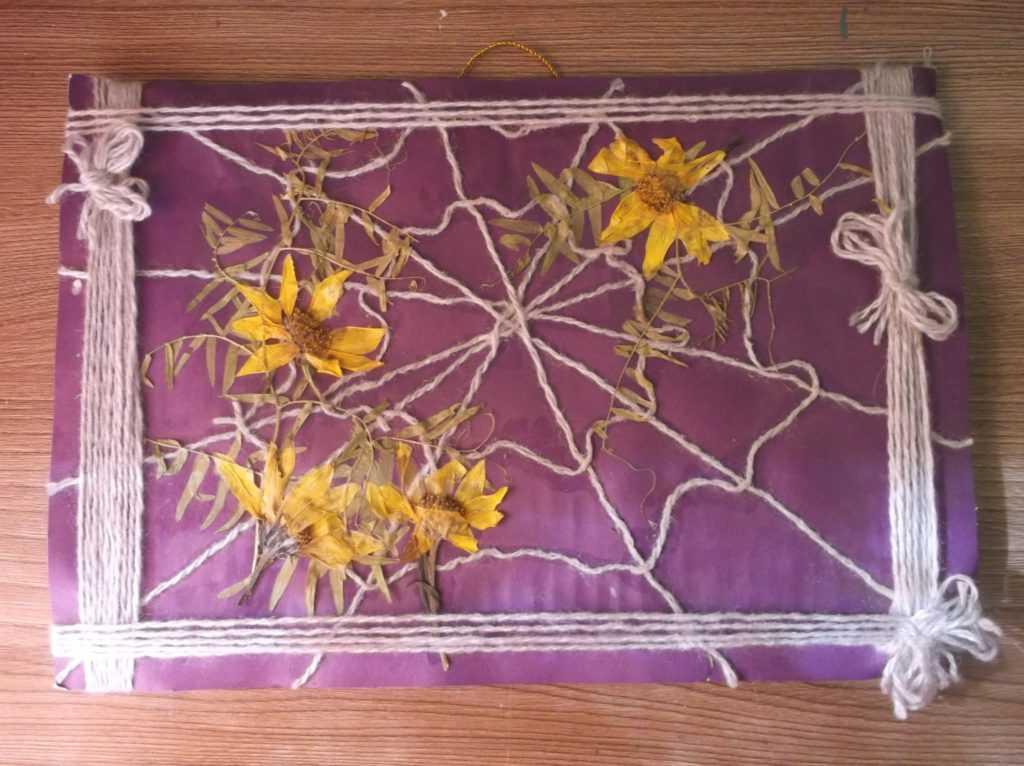 Картина из листьев 16