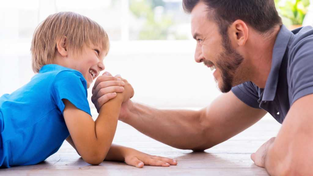 Папа и сын