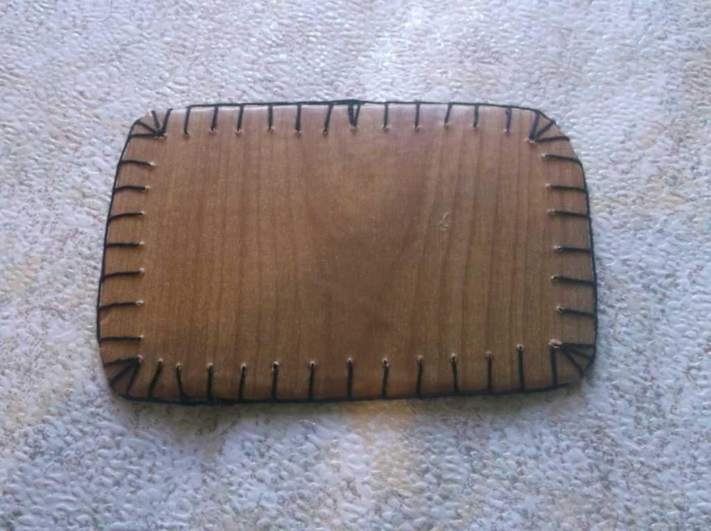 Рамка для фото из шерстяных нитей 13