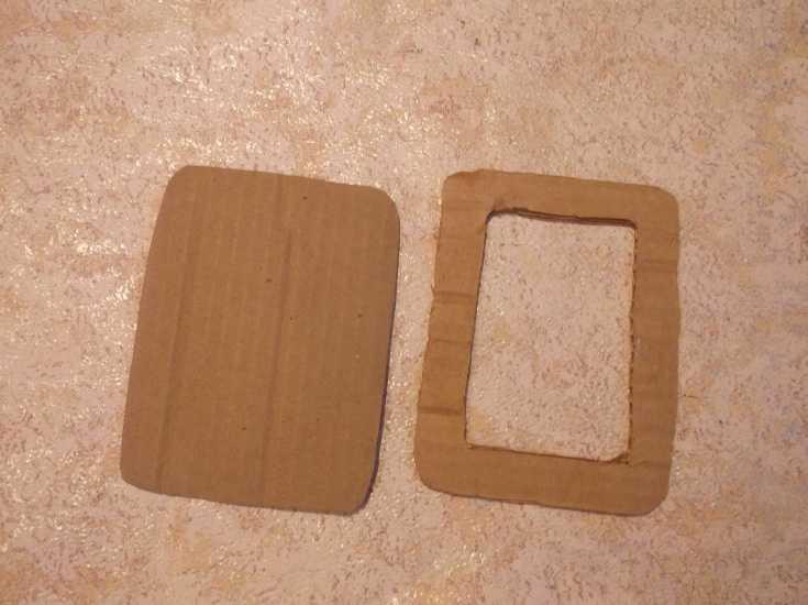 Рамка для фото из капроновой ленты МК 2