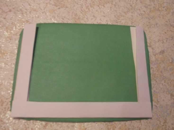 Рамка для фото из капроновой ленты МК 6