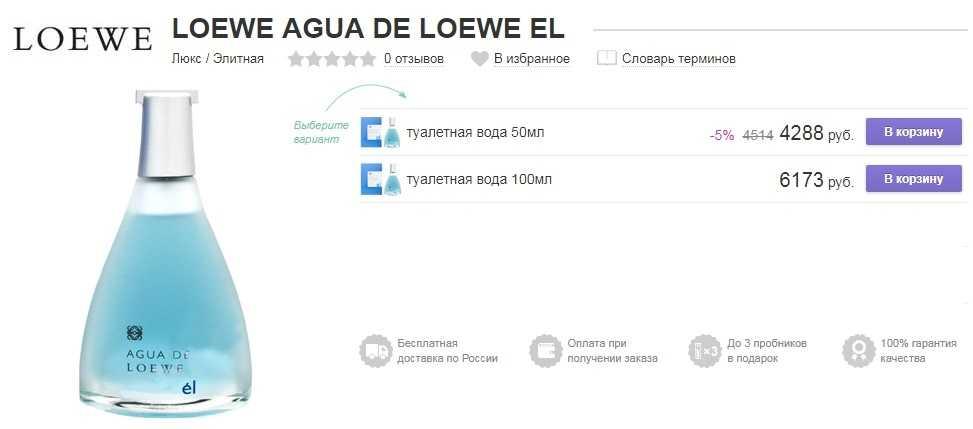 LOEWE Agua de Loewe el