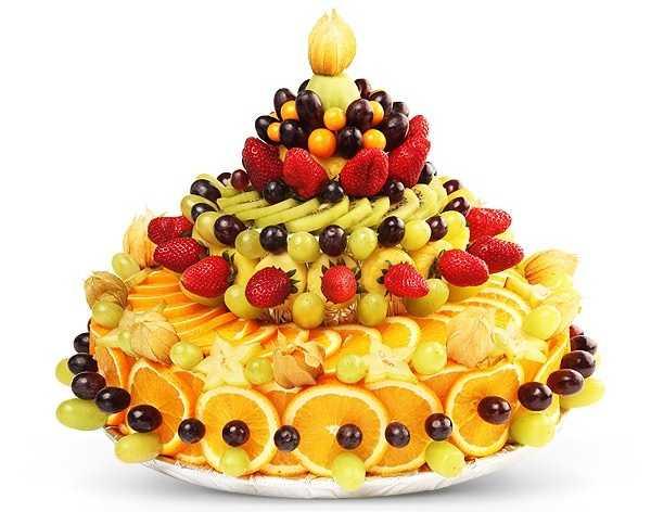 Торт из фруктов и овощей