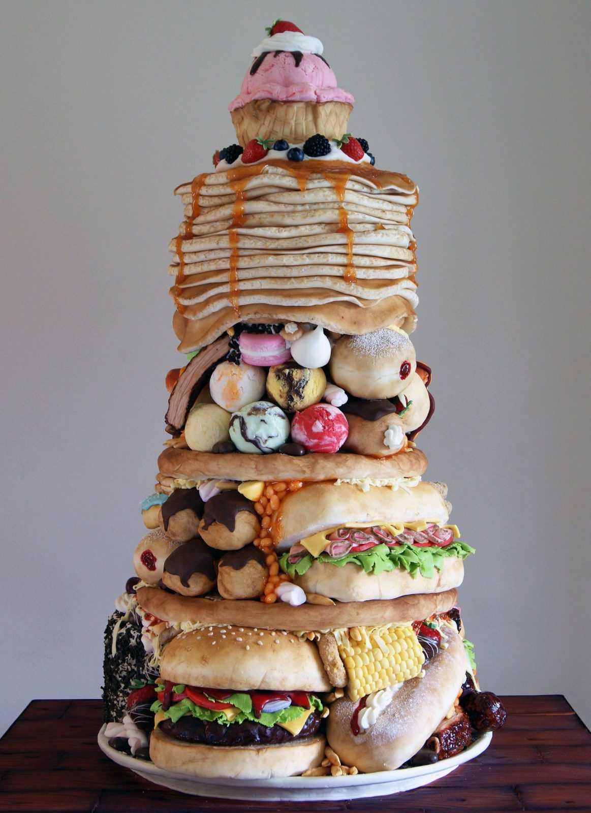 Торт из гамбургеров
