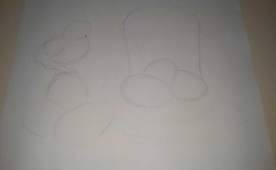 Картина из яичной скорлупы 2
