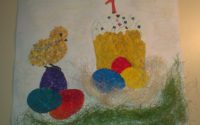 Картина из яичной скорлупы 7