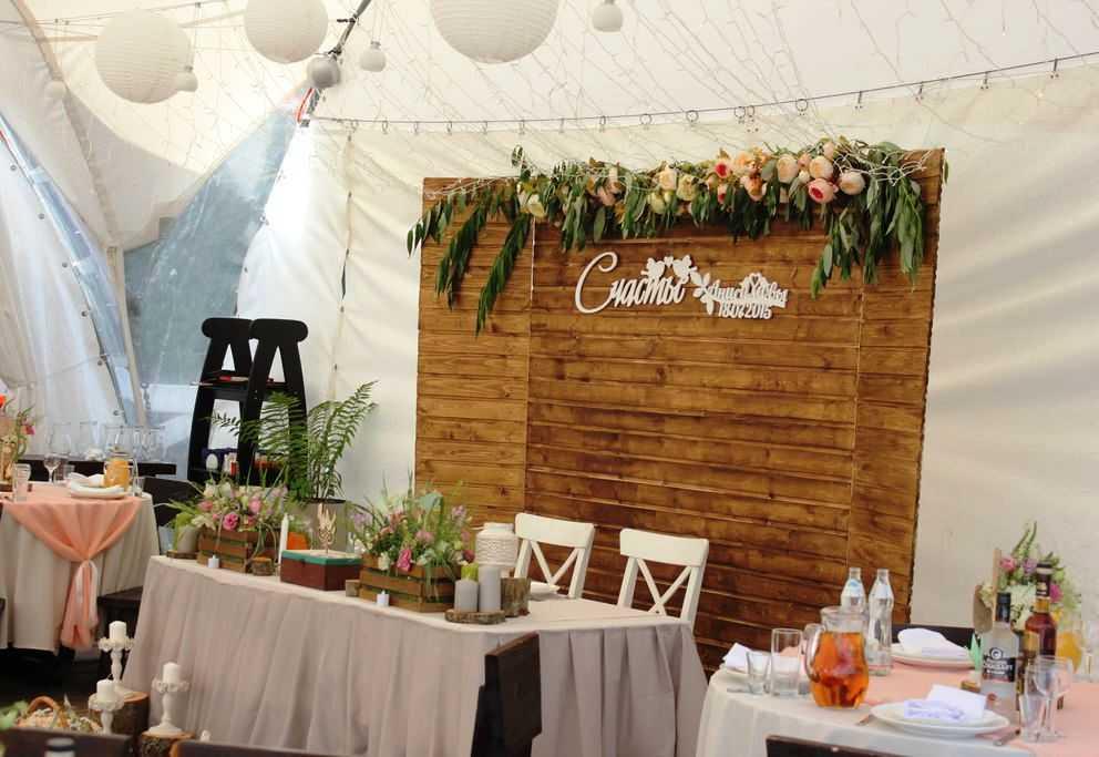 Дизайн зала на деревянную свадьбу