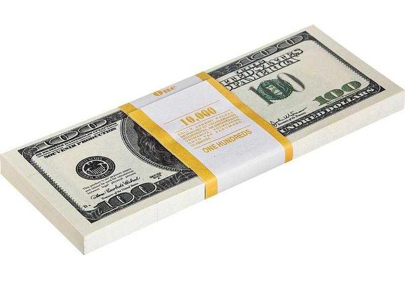 Пачка искусственных долларов