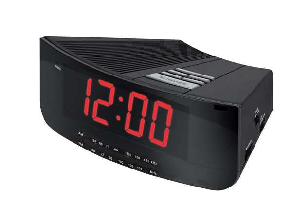 Радио и часы в одном