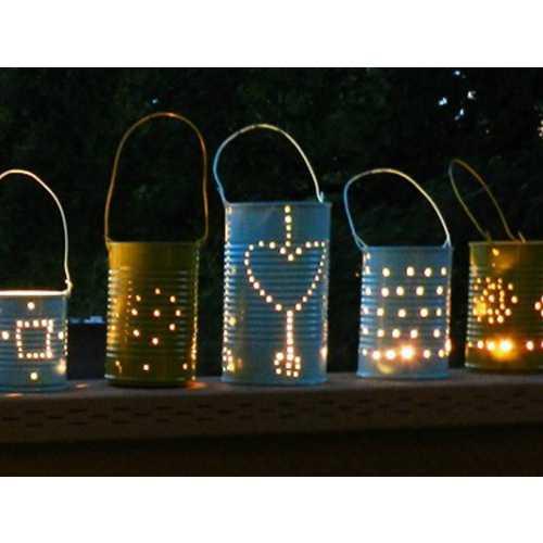 Огородный фонарик