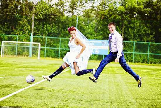 Футбольная свадьба