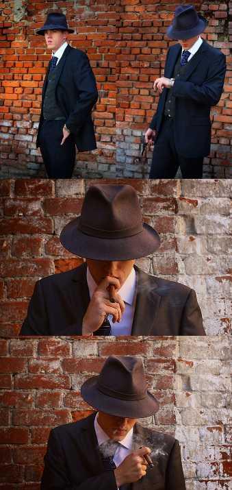 Костюмированная фотосессия «Один день гангстера» в исполнении фотографов Антонины Виноградовой и Марины Таракановой