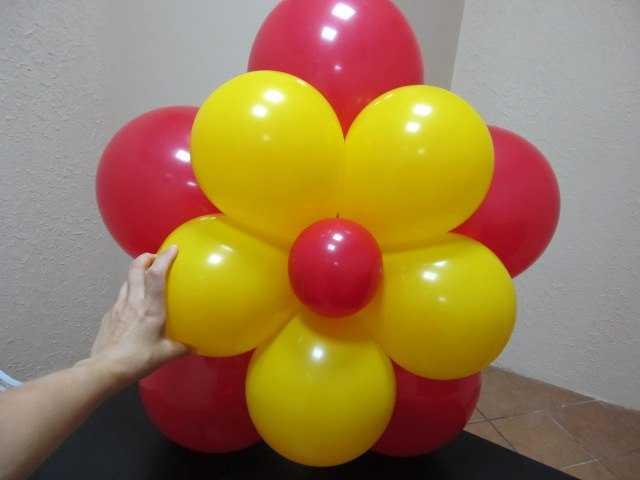 Как сделать цветы из воздушных шаров - инструкция