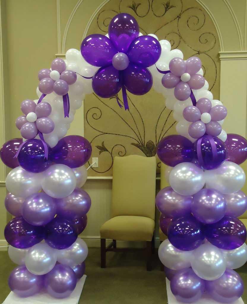 Арка из воздушных шаров для комнаты