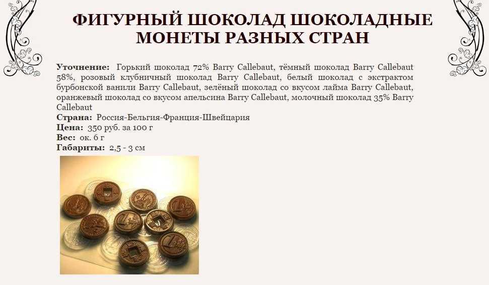 Шоколадные монетки