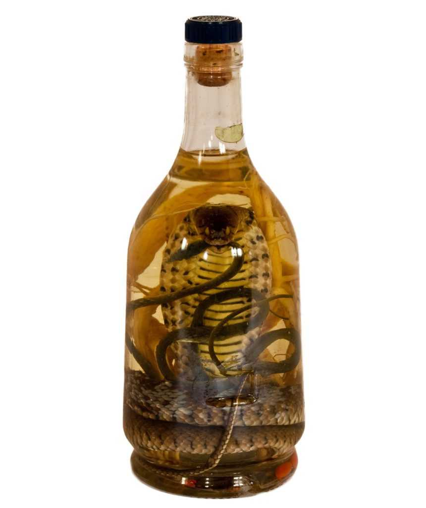Алкоголь со змеей