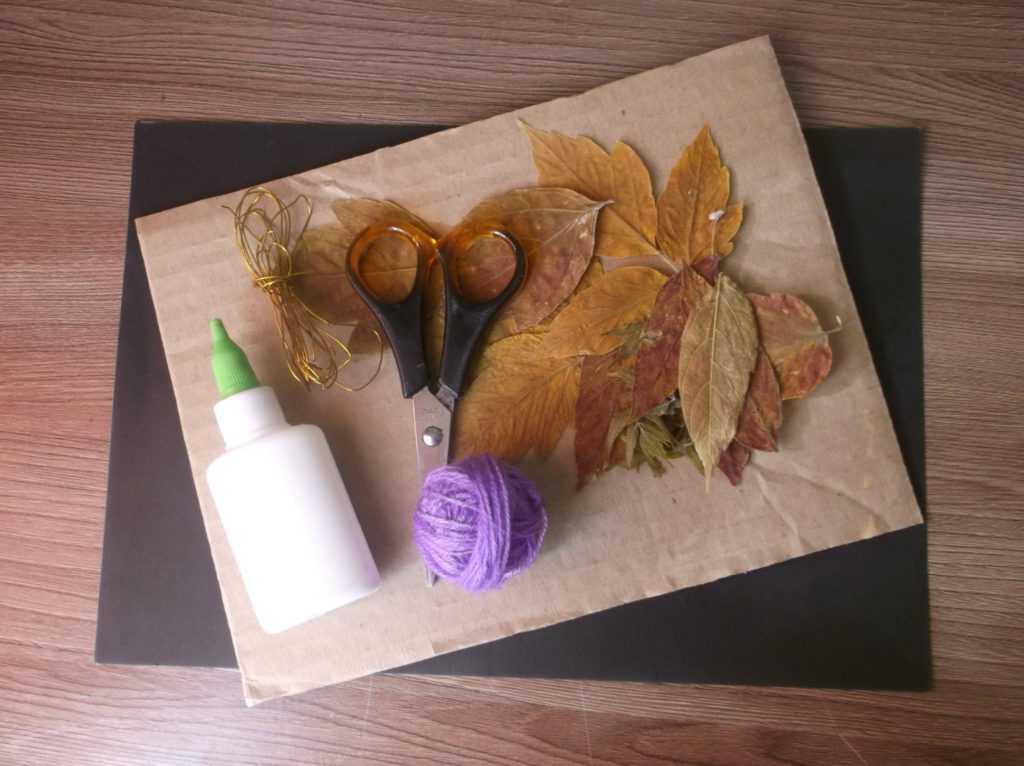 Картина из листьев 2