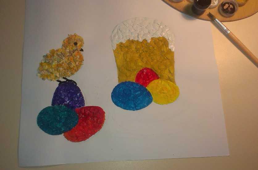 Картина из яичной скорлупы 4
