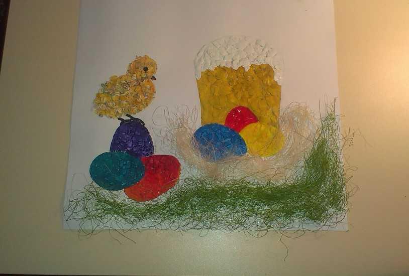 Картина из яичной скорлупы 5