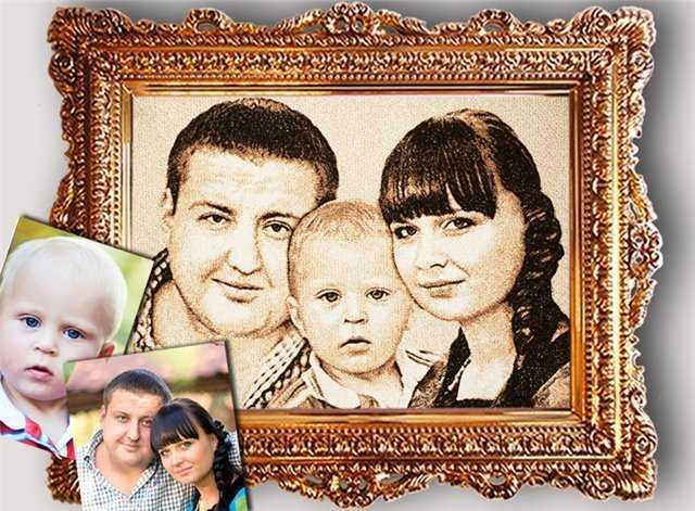 Вышивка по семейному снимку